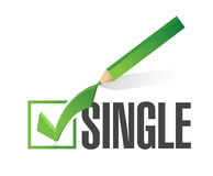 Selected single with check mark. illustration Stock Photography