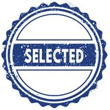 SELECTED stamp. sticker. seal. blue round grunge vintage ribbon sign Royalty Free Stock Photography