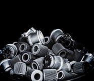 Selecteer filter van de nadruk de vuile lucht van auto Stock Foto's