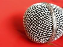 Selecteer nadruk van microfoon royalty-vrije stock afbeeldingen