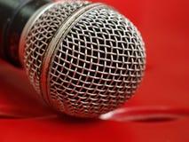 Selecteer nadruk van microfoon stock afbeelding