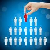 Selecteer persoonscarrière om baan te werken Stock Foto's