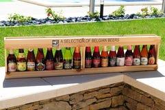Selectie van Belgische bieren royalty-vrije stock fotografie