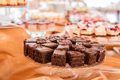 Selectie van cakes en gebakje royalty-vrije stock afbeelding