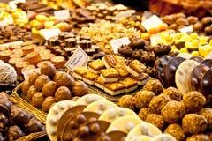 Selectie van chocolade Stock Foto