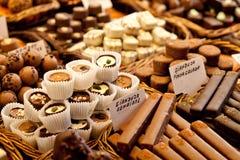 Selectie van chocolade Stock Afbeeldingen