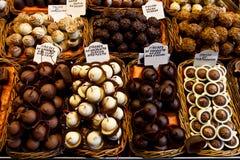 Selectie van chocolade Royalty-vrije Stock Foto