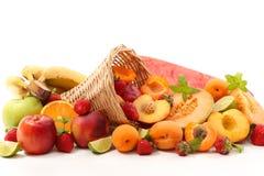 Selectie van fruit royalty-vrije stock afbeeldingen