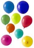 Selectie van gekleurde ballons stock fotografie