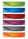 Selectie van halftone banners royalty-vrije illustratie