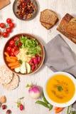 Selectie van het gezonde eten stock afbeelding