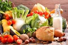 Selectie van het gezonde eten royalty-vrije stock fotografie