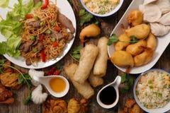 Selectie van het voedsel van Azië stock afbeeldingen