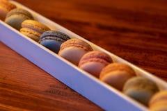 Selectie van kleurrijke Franse Macarons Royalty-vrije Stock Foto