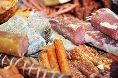 Selectie van koud vlees Royalty-vrije Stock Foto's