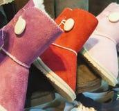 Selectie van laarzen bij een schoenbox Royalty-vrije Stock Fotografie