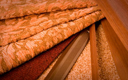 Selectie van materialen voor een flat interioin Royalty-vrije Stock Foto's