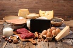Selectie van natuurlijke voeding royalty-vrije stock afbeeldingen