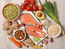 Selectie van natuurlijke voeding royalty-vrije stock afbeelding