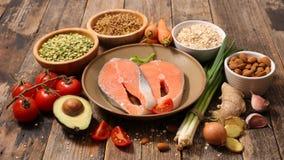 Selectie van natuurlijke voeding royalty-vrije stock foto