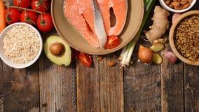 Selectie van natuurlijke voeding royalty-vrije stock fotografie