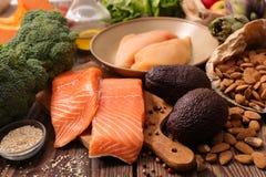 Selectie van natuurlijke voeding royalty-vrije stock foto's