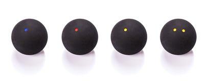 Selectie van pompoenballen over wit stock foto's