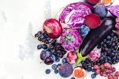 Selectie van purper voedsel royalty-vrije stock foto