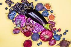 Selectie van purper voedsel royalty-vrije stock fotografie