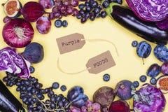 Selectie van purper voedsel royalty-vrije stock afbeelding
