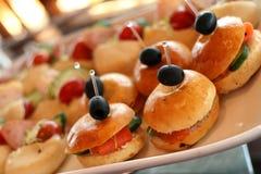 Selectie van sandwiches Royalty-vrije Stock Afbeeldingen