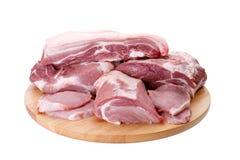 Selectie van verschillende besnoeiingen van vers vlees royalty-vrije stock afbeelding