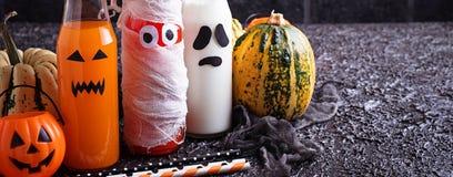 Selectie van verschillende Halloweens-dranken voor partij Royalty-vrije Stock Foto's
