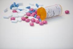 Selectie van verschillende pillen Stock Foto's