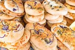 Selectie van Verschillende soorten artisanaal brood stock foto