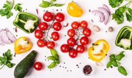 Selectie van verse organische groenten Gezond voedsel of dieetconcept stock fotografie