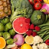 Selectie van voedsel, nul calorie stock foto