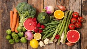 Selectie van voedsel, nul calorie stock fotografie