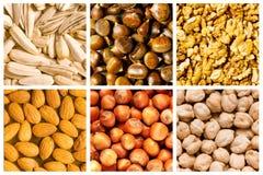 Selectie van voedselachtergronden royalty-vrije stock foto