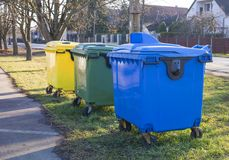 Selectieve afvalbak Stock Foto's