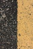 Selectieve de wegachtergrond van de nadruklijn Royalty-vrije Stock Fotografie