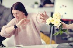 Selectieve nadruk van mooie bloemen stock foto's