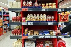 Selecting Christmas chocolates Stock Image