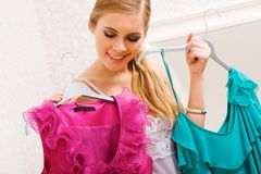 Selecting clothes Royalty Free Stock Photo