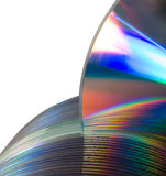 Selecting optical dvd disc from computer library Royalty Free Stock Photo