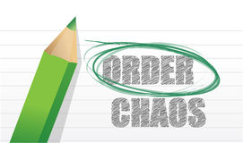 Selecting between order and chaos Royalty Free Stock Photography