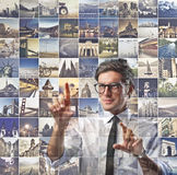 Selecting a Place Stock Images