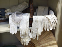 A selection of ancient gloves 1800'S. A selection of gloves worn in the 1800's by men and women in England Stock Image