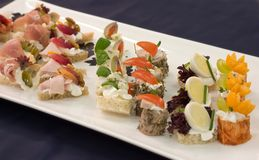 Selection of appetizers Stock Photography