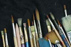 Selection of artist paint brushes Royalty Free Stock Photo
